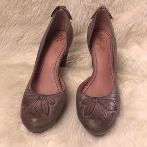 Anthropologie Shoes - Miss Albright vintage style bow pumps 39 9 Anthro